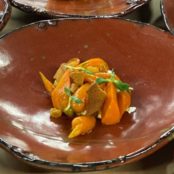 Carrots with Fresh Cheese